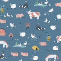 Farm Days Farmyard Animals by Dashwood Studio 100% Cotton