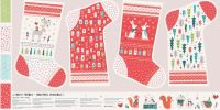 Forest Friends Christmas Stocking by Dashwood Studio 100% Cotton