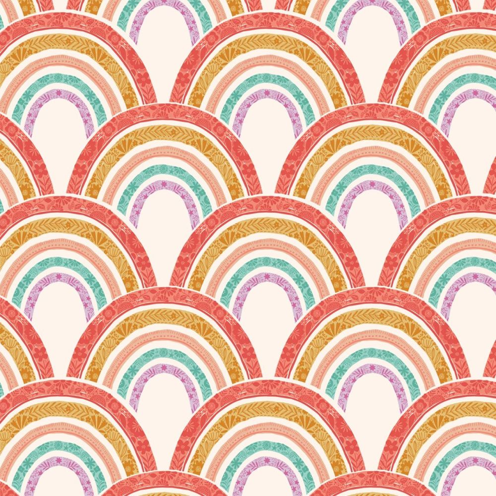 Good Vibes Rainbows White by Dashwood Studio 100% Cotton