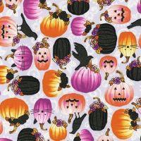 Totally Twilight Spooky Sparkly Pumpkins by Robert Kaufman Fabrics 100% Cotton