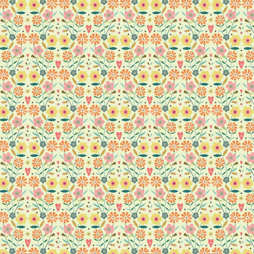 Hedgerow Flowers on Cream by Dashwood Studio 100% Cotton