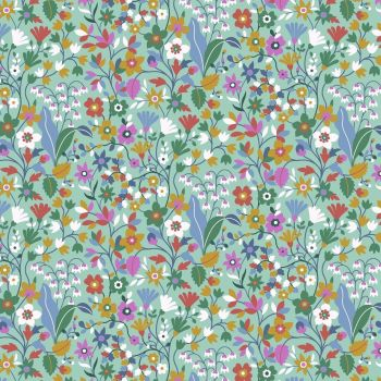 Kaleidoscope Ace Lawn Teal Floral by Dashwood Studio Cotton Lawn Extra Wide