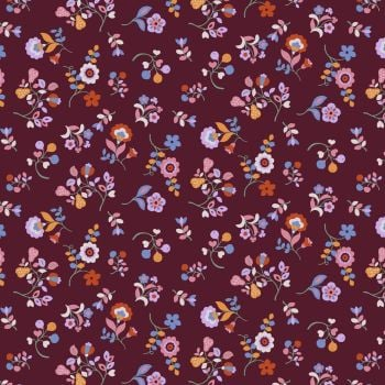 Kaleidoscope Ace Lawn Plum Floral by Dashwood Studio Cotton Lawn Extra Wide