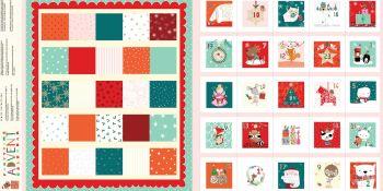 Advent Calendar Panel Partytime Metallic by Dashwood Studio 100% Cotton