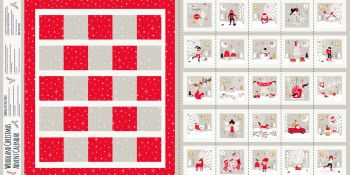 Advent Calendar Panel Woodland Christmas Metallic by Dashwood Studio 100% Cotton