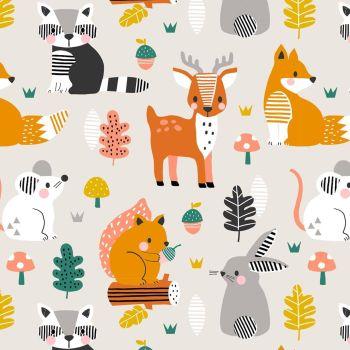 Acorn Wood Woodland Animals by Dashwood Studio 100% Cotton