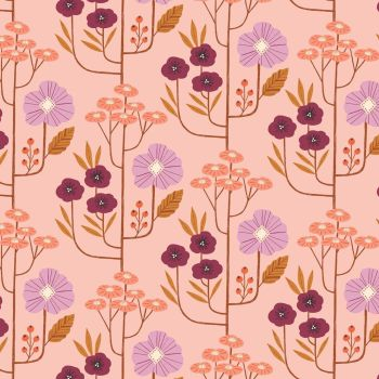 Wild Flowers Pink by Dashwood Studio 100% Cotton