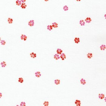 Wishwell Cherry Blossom Flowers Vanilla by Robert Kaufman Fabrics 100% Cotton