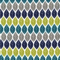 Rustique Leaf Press Teal by Michael Miller 100% Cotton