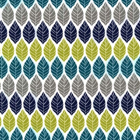 Rustique Leaf Press Teal by Michael Miller 100% Cotton