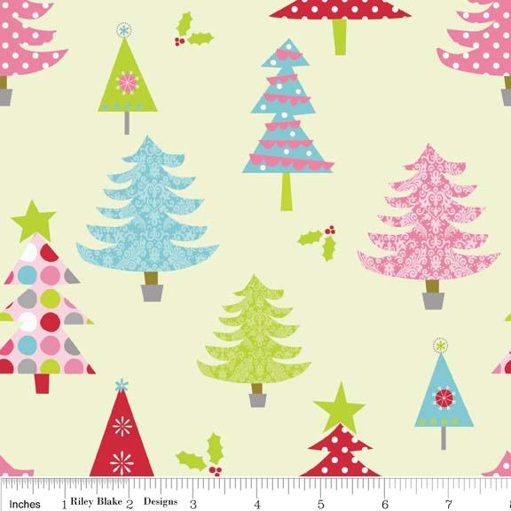 Christmas Basics Lime by Riley Blake Designs 100% Cotton
