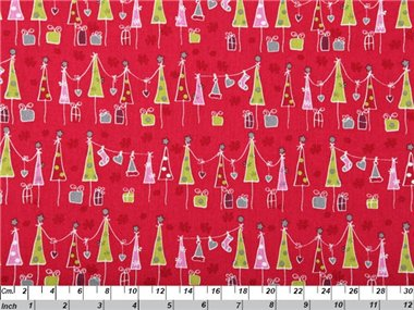 Day Before Xmas Red by Copenhagen Print Factory 100% Cotton