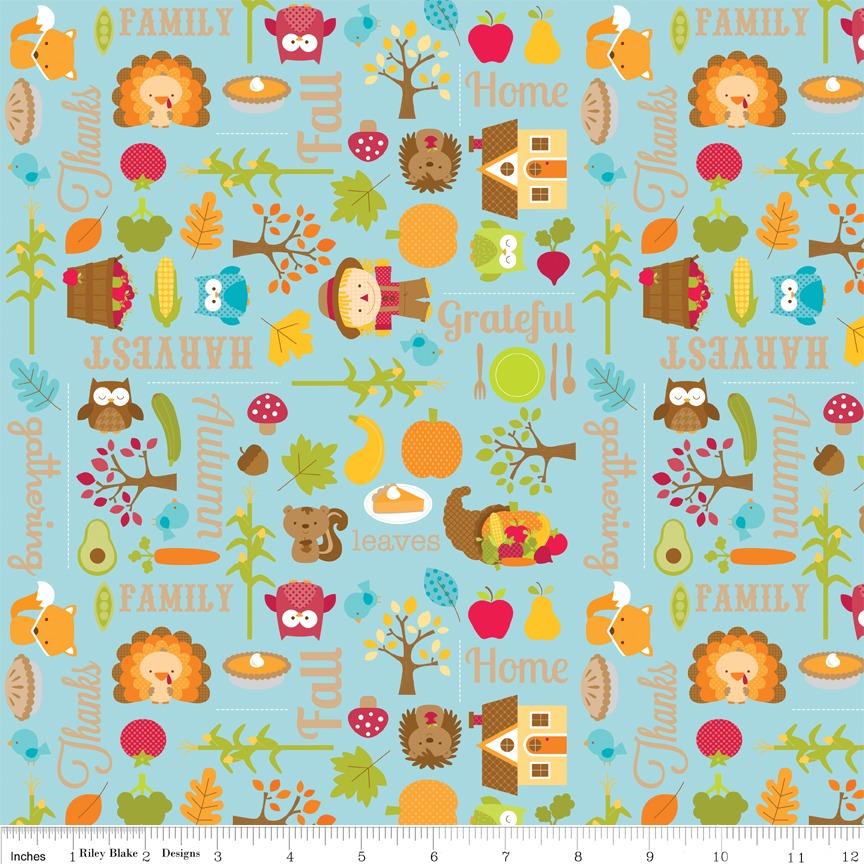 Happy Harvest Blue by Riley Blake Designs 100% Cotton