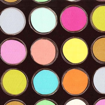 Paint Lids Chrome Collection by Michael Miller 100% Cotton