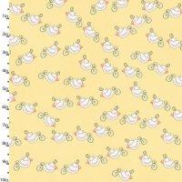 Bird Wise Lemon by Studio E Fabrics 100% Cotton 88 x 108 cm