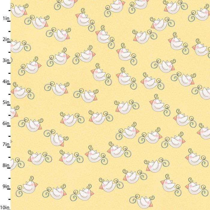 Bird Wise Lemon by Studio E Fabrics 100% Cotton