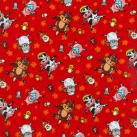 Animal Farm Red by Blank Quilting 100% Cotton 52 x 53 cm