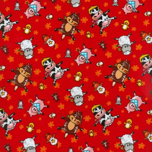 Animal Farm Red by Blank Quilting 100% Cotton