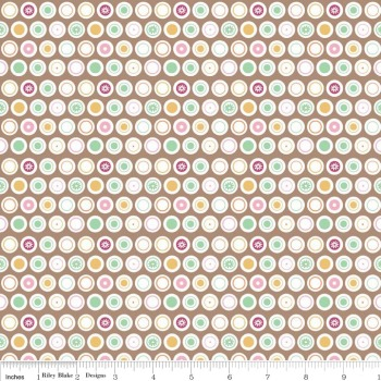 Flower Patch Dots by Riley Blake 100% Cotton 89 x 110 cm