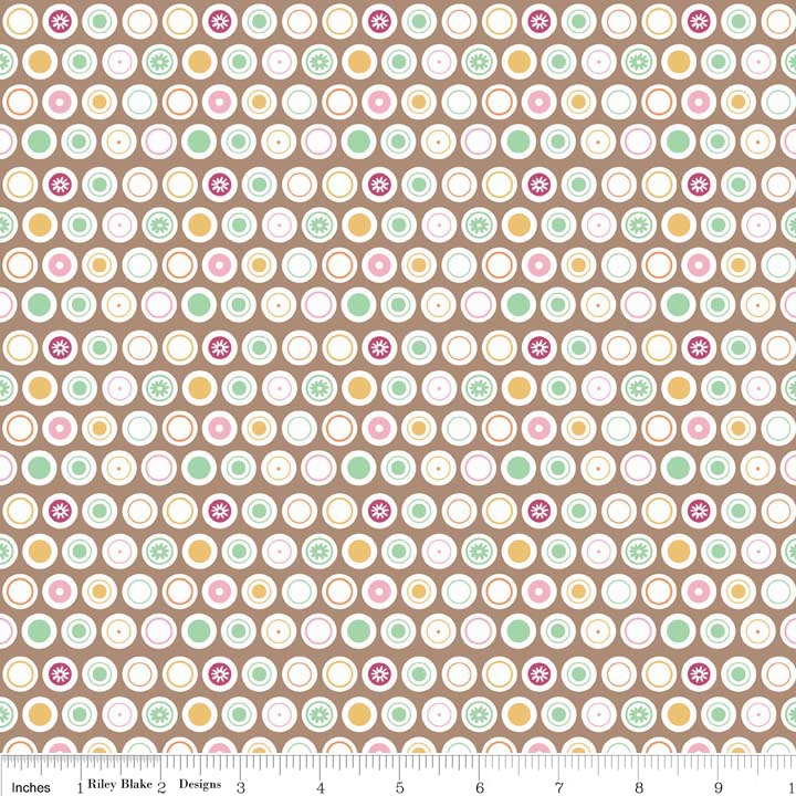 Flower Patch Dots by Riley Blake 100% Cotton