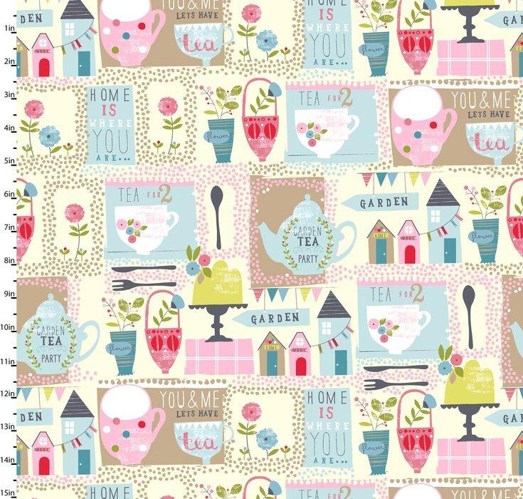 Garden Party Multi by Studio E Fabrics