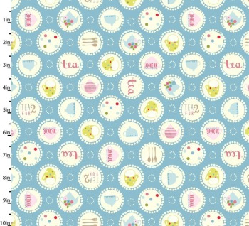 Garden Party Blue by Studio E Fabrics 100% Cotton