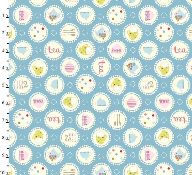 Garden Party Blue by Studio E Fabrics 100% Cotton