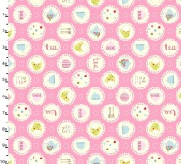 Garden Party Pink by Studio E Fabrics 100% Cotton