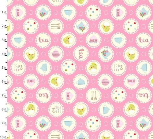 Garden Party Pink by Studio E Fabrics 100% Cotton