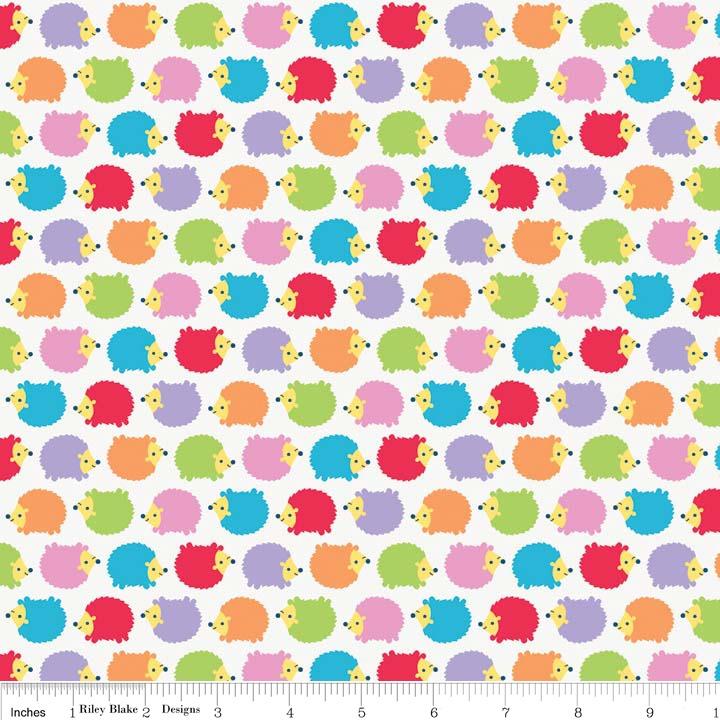 Wildflower Meadow Hedgehogs Multi by Riley Blake 100% Cotton
