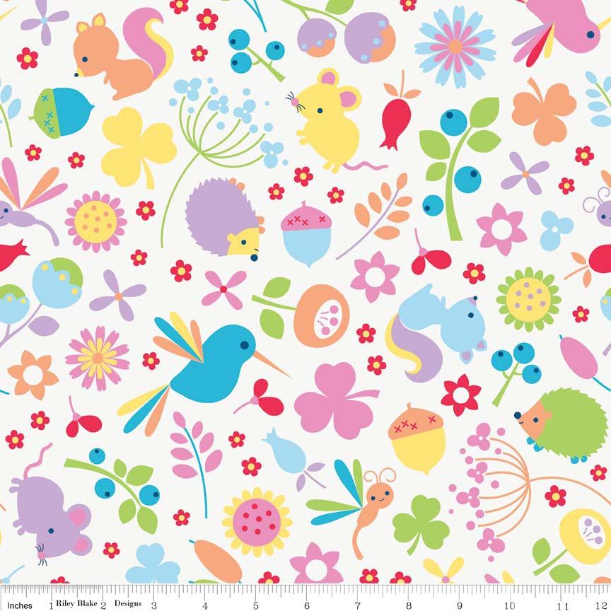 Wildflower Meadow Main Multi by Riley Blake 100% Cotton