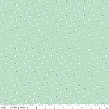 Sew Charming Sew Rosebuds Mint by Riley Blake 100% Cotton 25 x 108 cm