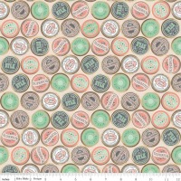 Sew Charming Sew Spools Coral by Riley Blake 100% Cotton 47 x 108 cm
