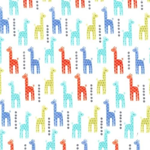 Zoo Littles Mini Giraffes by Michael Miller 100% Cotton