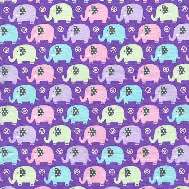 Zoo Littles Mini Elephants by Michael Miller 100% Cotton