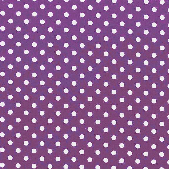 3mm Tiny Dots Purple by Rose & Hubble 100% Cotton