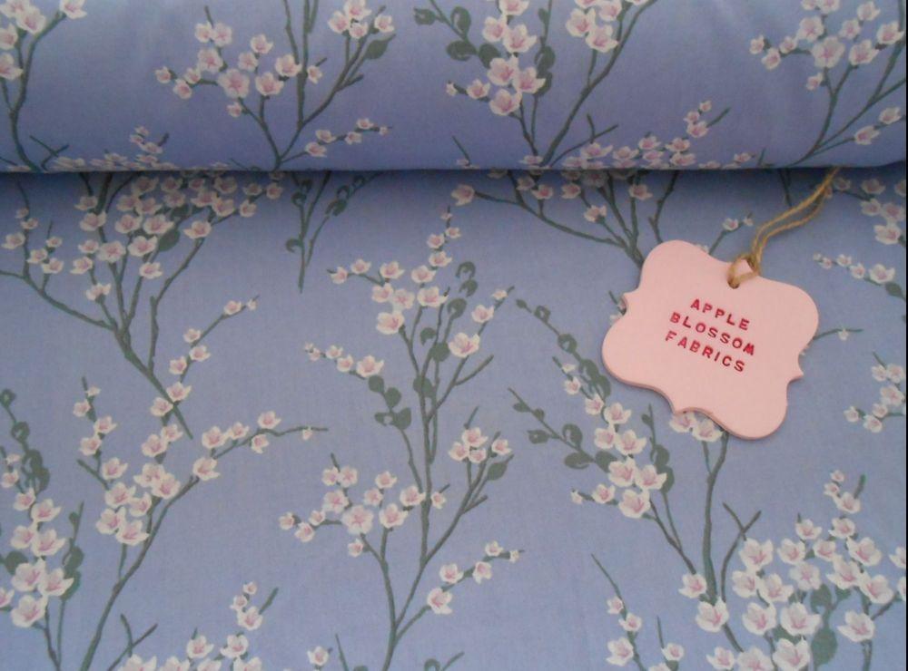 Japanese Spring Blossom Lavender 100% Cotton