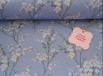 Japanese Spring Blossom Lavender by Rose & Hubble 100% Cotton