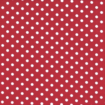 3mm Tiny Dots Bright Red by Rose and Hubble 100% Cotton