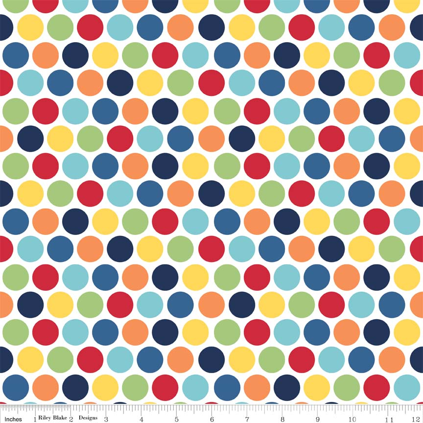 Pieces of Hope 2 Dots Multi by Riley Blake 100% Cotton