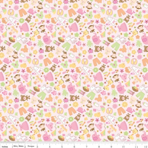 Sweet Baby Girl Friends Pink by Riley Blake 100% Cotton