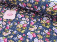 Floral Bloom on Navy 100% Cotton