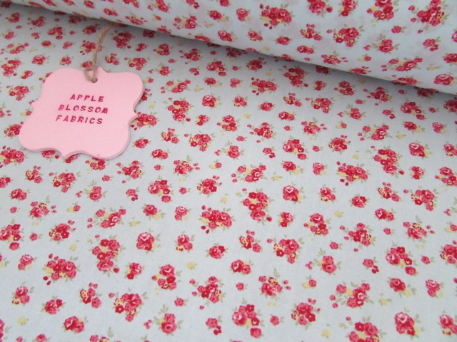 Lucy Floral on Mint 100% Cotton