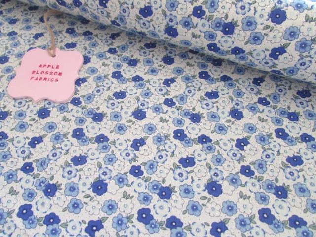 Blue Pansies 100% Cotton