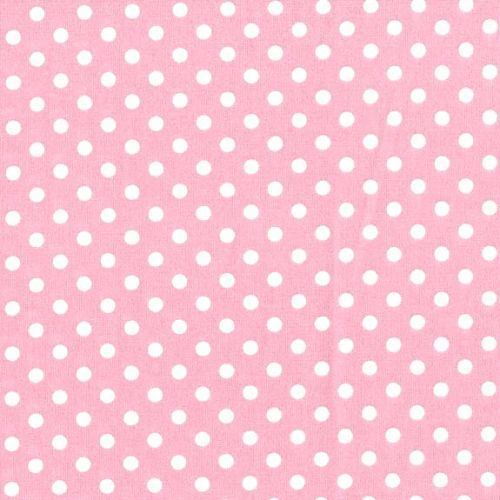 3mm Tiny Dots Pink by Rose & Hubble 100% Cotton