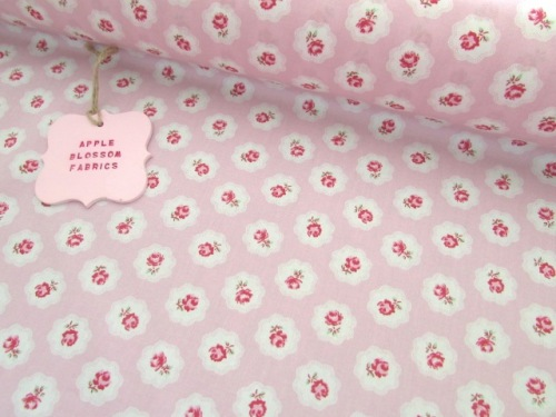 Gracie Vintage Floral Pink by Rose & Hubble 100% Cotton