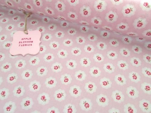 Gracie Vintage Floral Pink by Rose & Hubble 100% Cotton