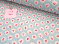 Gracie Vintage Floral Sky Blue by Rose & Hubble 100% Cotton