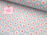 Gracie Vintage Floral Sky Blue by Rose & Hubble 100% Cotton