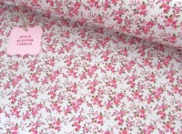 Lottie Mini Floral on Ivory 100% Cotton
